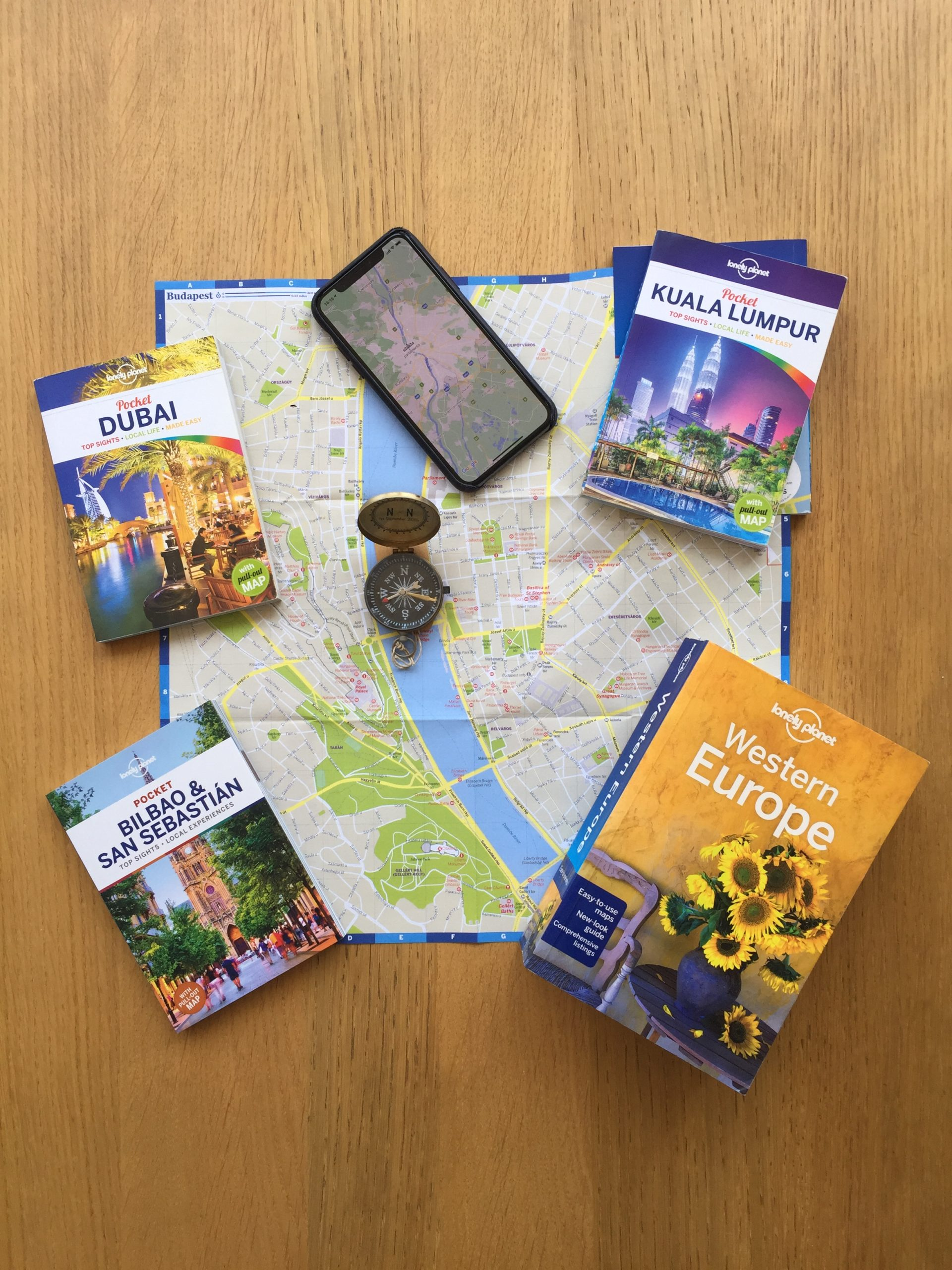 travel guides and maps